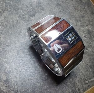 Other - Nixon The Rotolog Walnut Stainless Steel Watch